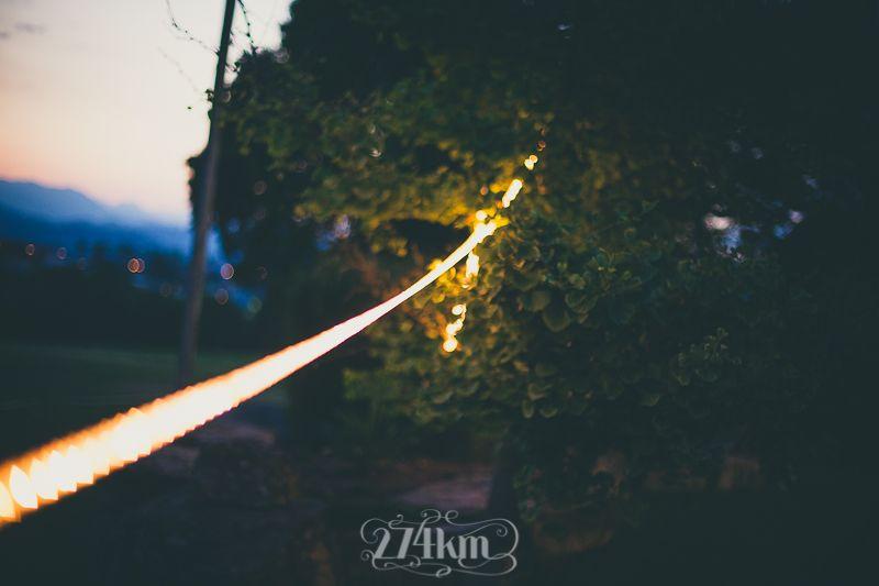 luz perimetral led para boda al aire libre