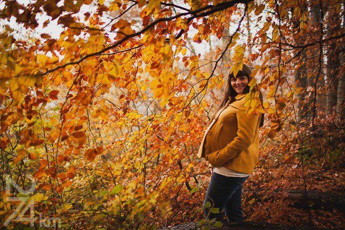 Fotografía de embarazo bosques